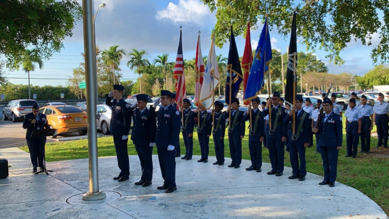 Air Force JROTC Unit at Coral Springs High School Honored With Merit Award