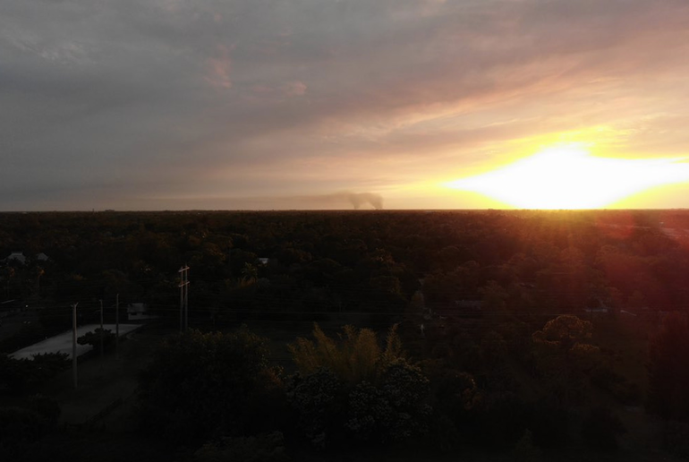 Smoke From Everglades Fire Drifted Saturday into Coral Springs and Parkland