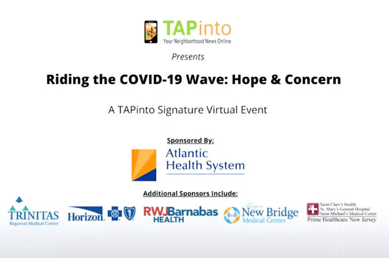 NJ Healthcare Leaders Discuss COVID-19, Hope for the Future in Inaugural TAPinto Virtual Event