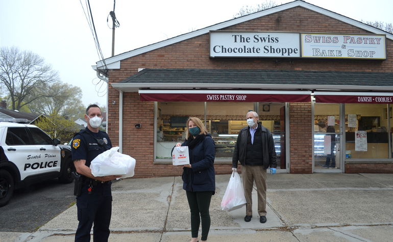 Scotch Plains Councilwoman Eliabeth Stamler and SPPD officer.png