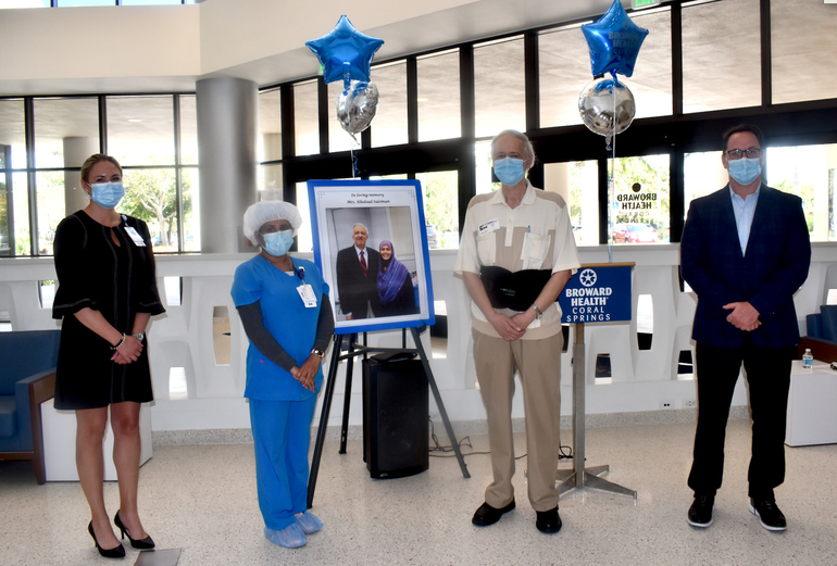 """""""She Was Really Special:"""" Husband Honors Broward Health Coral Springs Nurse Who Cared For His Wife Until Her Death"""
