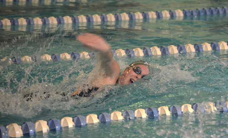 Scotch Plains-Fanwood's Julia Bonhote won the 50 and 100 Freestyle vs. Summit.png