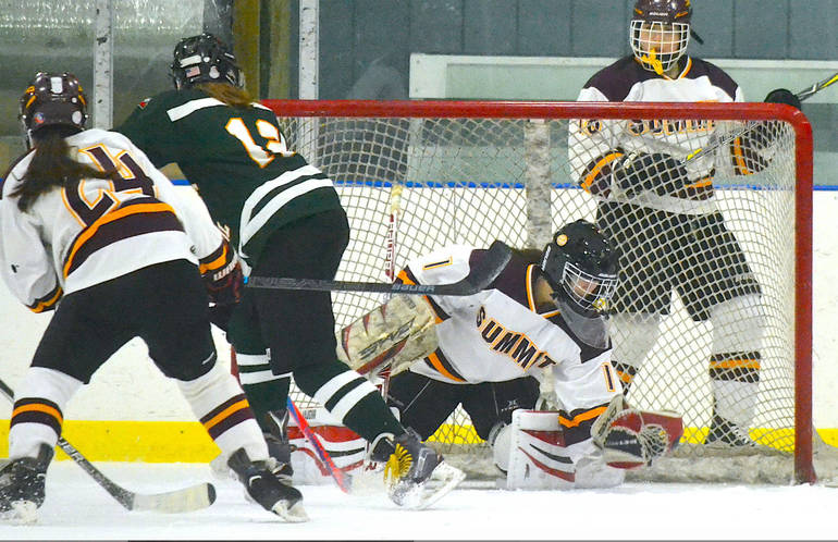 Summit H.S. Girls Ice Hockey Falls in OT to Kent Place 4-3, Eliminated from MUGIHL Tourney