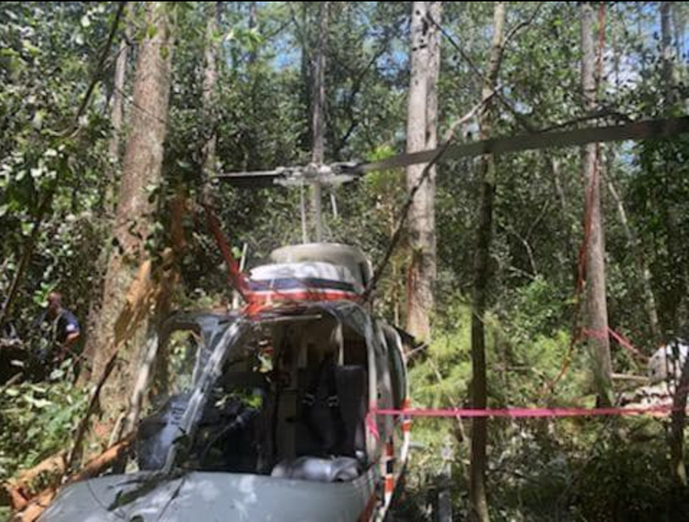 Helicopter Crashed Thursday at Tradewinds Park in Coconut Creek