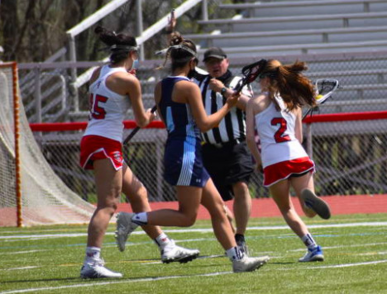 Lady Highlanders Battle Back In Second Half But Fall To Cranford, 11-9, In Girls Lacrosse