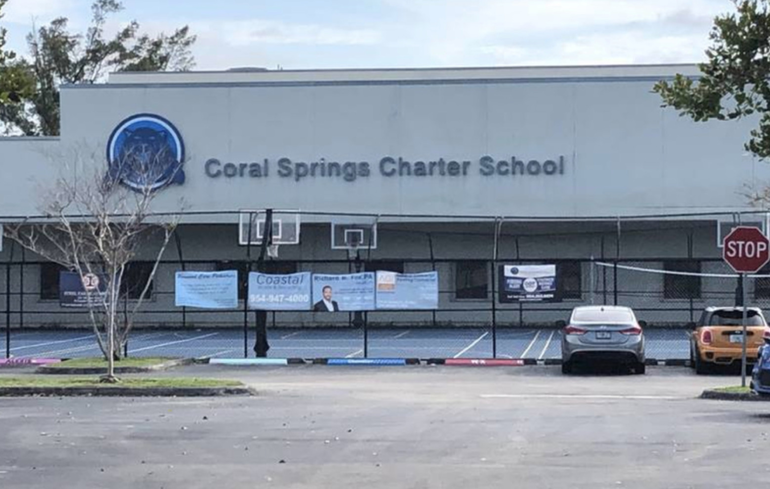 City of Coral Springs Charter School at 3205 N. University Drive.