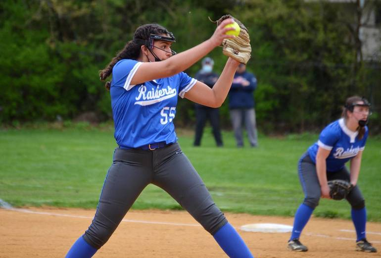 Scotch Plains-Fanwood softball pitcher Sairah Llano.