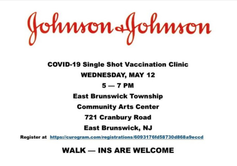Single-Shot Vaccine Available Today in East Brunswick