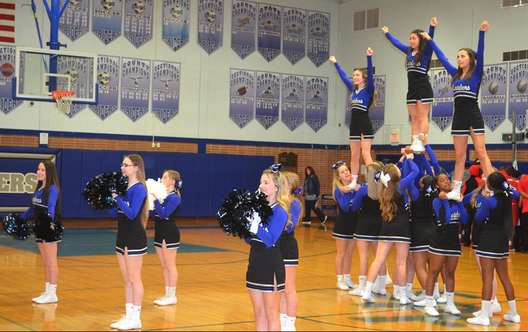 Scotch Plains-Fanwood cheerleaders perform during the game..png