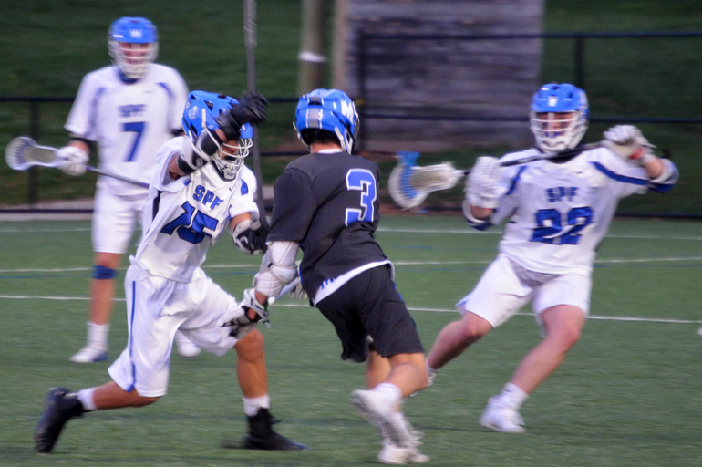Scotch Plains Fanwood Boys Lacrosse Wins in Home Debut Under the Lights