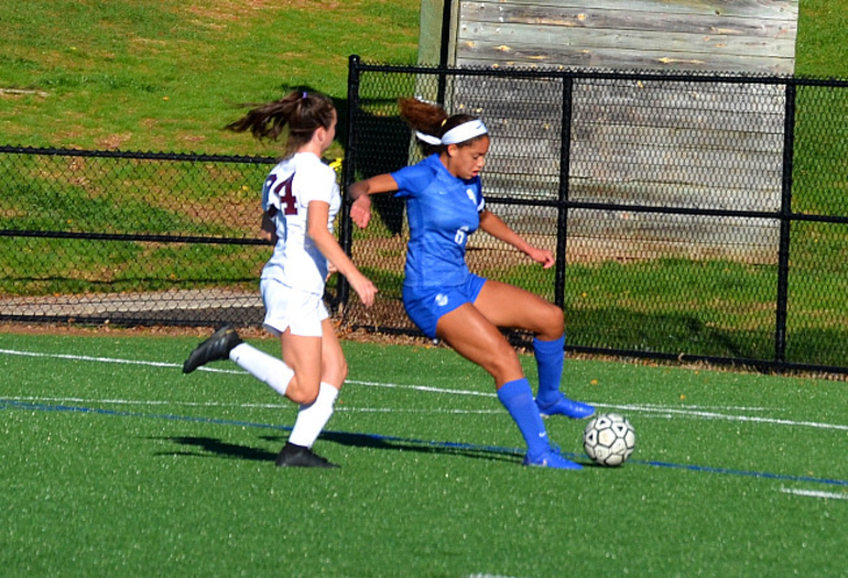 Scotch Plains-Fanwood's Corinne Lyght controls the ball.png