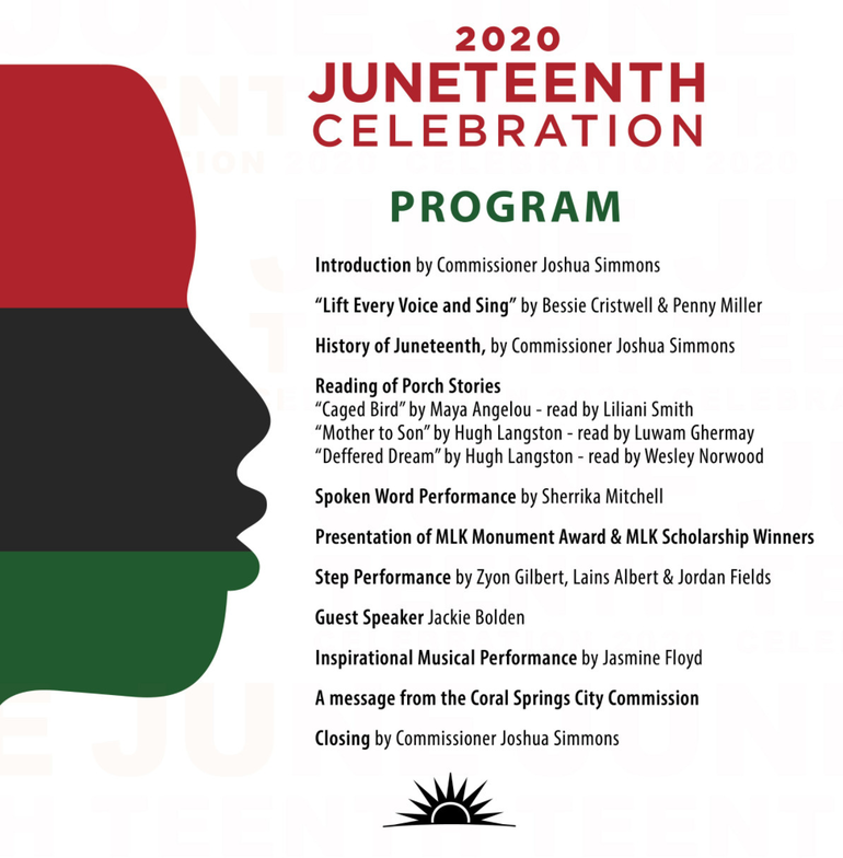 Coral Springs Plans Juneteenth Event Commemorating End of Slavery in US