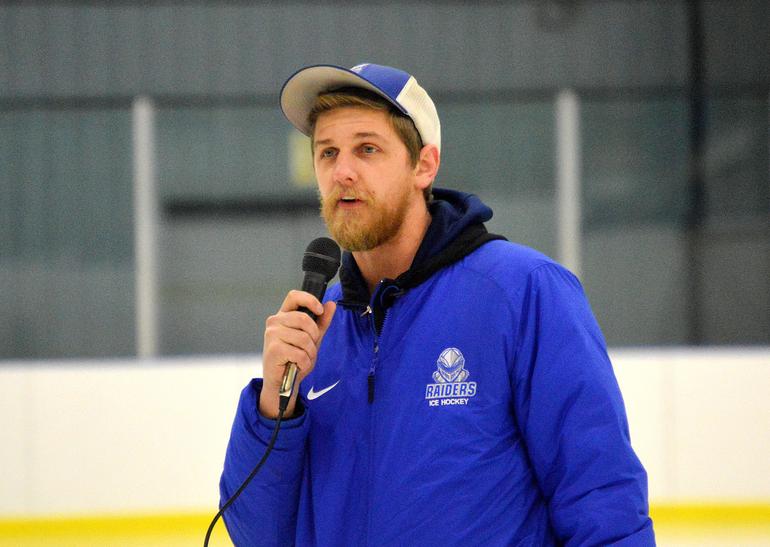 Scotch Plains-Fanwood HS hockey coach Matt Gunther