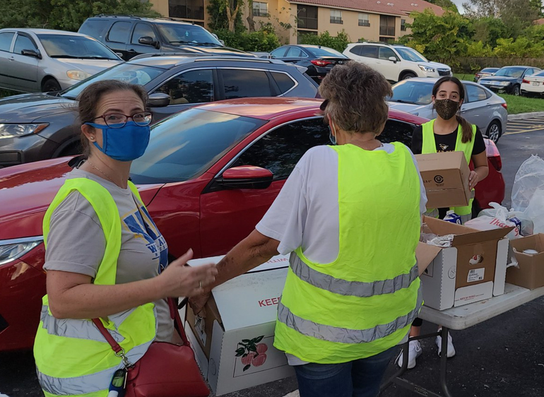 Food distribution at Chabad of Coral Springs happens on most Wednesday