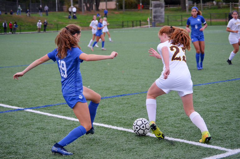 Scotch Plains-Fanwood's Kat Zikas (19) played tight defense all afternoon.png