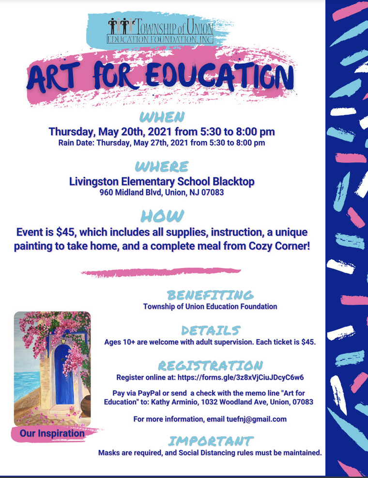 Art for Education:  A Painting Event to Support the TUEF