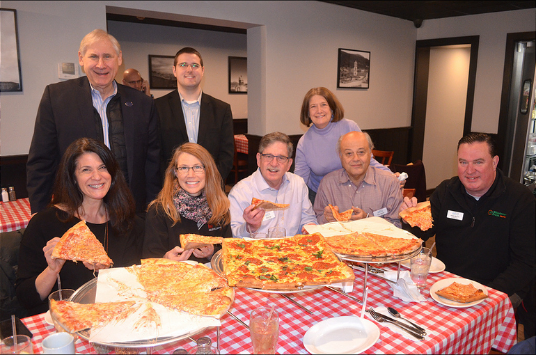 Scotch Plains Township officials dig in at Max's Pizza & Bistro.png