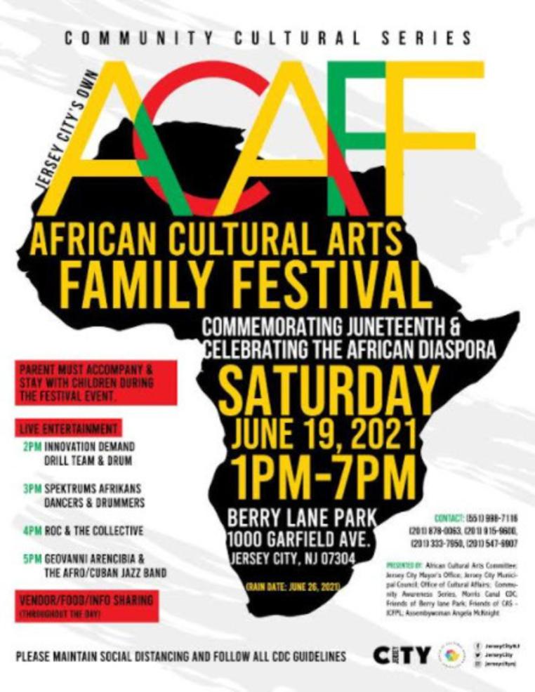 Jersey City Set Mark Juneteenth, Honor African Culture