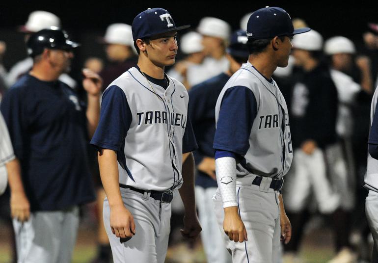 Taravella Baseball Blanked, No-Hit By Monarch, 2-0