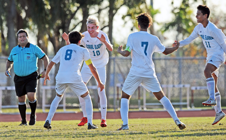 Coral Glades Boys Soccer To Play in Regional Quarterfinal In Coral Springs