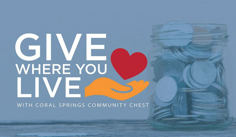 """Coral Springs Seeks Help In Reaching $150,000 Goal of """"Give Where You Live"""" Campaign"""