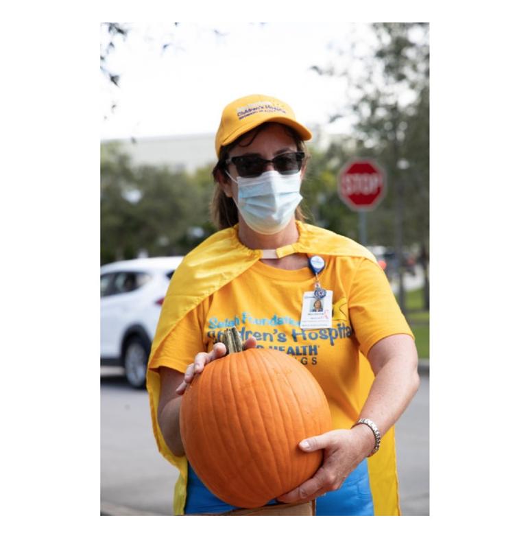 Salah Foundation Children's Hospital Holds Drive-Thru Pumpkin Patch