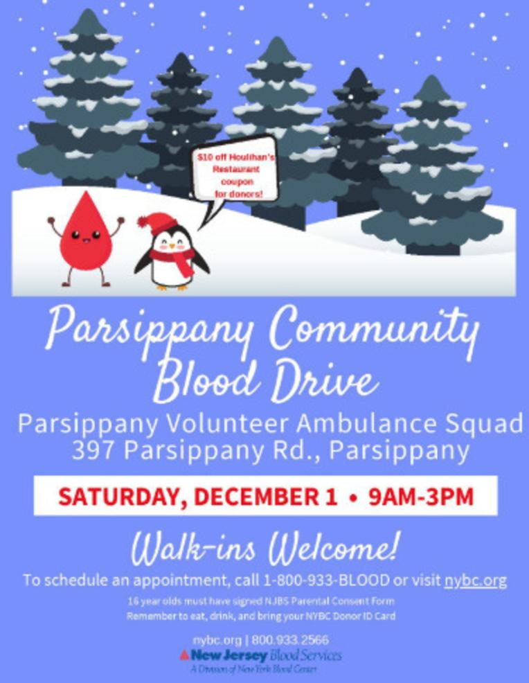 Parsippany Community Blood Drive