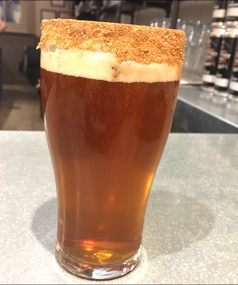 Scarecrow Juice with sugar cinnamon rim served at Wet Ticket Brewery in Rahway.png