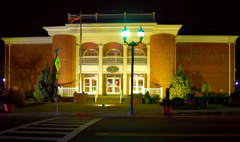 Scotch Plains Municipal Building will be lit in amber on Jan. 19, 2021, in honor of the lives lost to COVID-19.