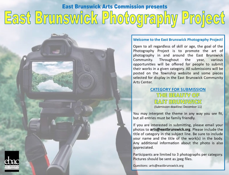 """Arts Commission Photography Contest Features the """"Beauty of East Brunswick"""""""