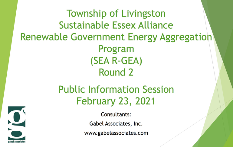 Livingston's PSE&G Customers Invited to Info Session on New Energy Aggregation Program