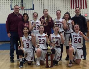 Parsippany Pacers First Place 8th Grade Team