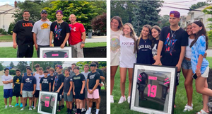 Wayne Panthers Surprise Teammate Recovering from Lymphoma with Framed Jersey