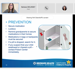 "Dr. Nirit Swerdloff, a pediatric ER physician at Broward Health Coral Springs, hosted a virtual talk: ""Get To Know Your Local Children's Hospital ER and Learn Accident Prevention Facts."""