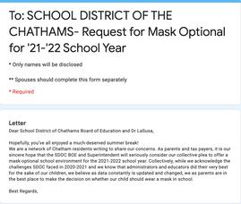 Mask-Optional Letter