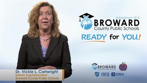 Interim Superintendent Vickie Cartwright of Broward County Public Schools