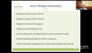 Unusually Steep Municipal Budget Hike Leads to Less Than 2% Overall Tax Increase in Livingston