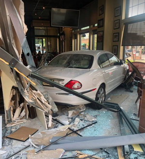 Roseland Woman Uninjured in Crash Through Windows at Anthony's Coal Fired Pizza in Livingston