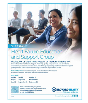 Virtual Heart Failure Education and Support Group at Broward Health