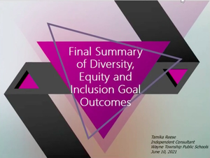 End-of-Year Report on Wayne School's Diversity, Equity and Inclusion Goal