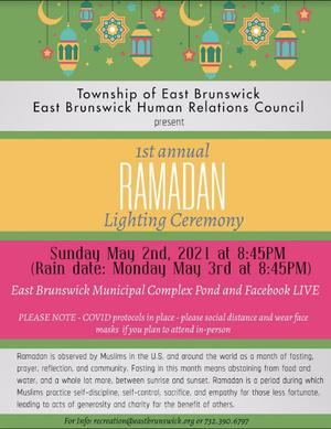 East Brunswick Lights the Lanterns to End Ramadan