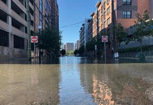 Ida flood waters in Southwest Hoboken - Thursday, September 2