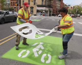 Sharrows Installed to Increase Bike Safety