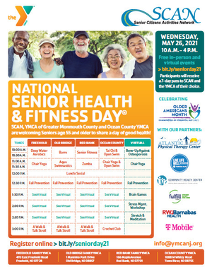 YMCAs and National Senior Health & Fitness Day - May 26