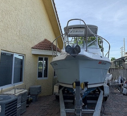 Boat on side of a house
