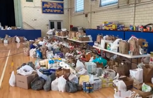 Westfield Community Groups, Police Partner for Food Drive