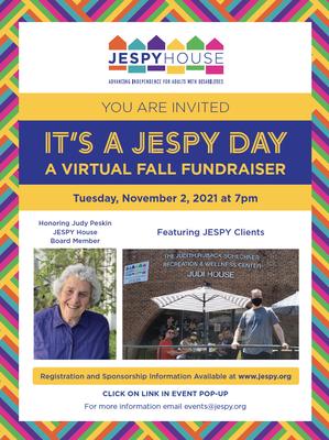 JESPY's Virtual Fundraiser – IT'S A JESPY DAY - to be Held Nov. 2