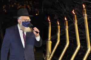 Millburn Gathers for Annual Chanukkah Menorah Lighting in Taylor Park