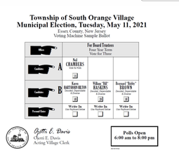 Hilton, Haskins and Brown Unofficially Win South Orange Board of Trustees Seats