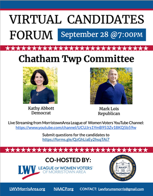 League of Women Voters and NAACP to Host Debates for Chatham Borough Counciland Chatham Township Committee